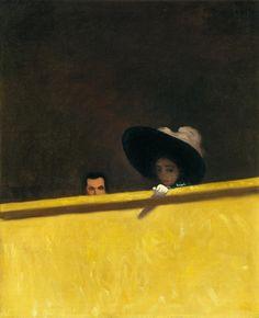 Félix Vallotton, La Loge de théâtre, le monsieur et la dame, 1909, huile sur toile, 46 x 38 cm. Suisse, collection particulière ©