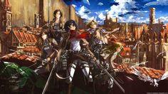 HD Wallpaper,Shingeki No Kyojin,Titanes,Eren,Mikasa