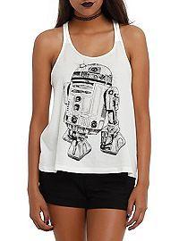 HOTTOPIC.COM - Star Wars R2-D2 Braided Girls Tank Top