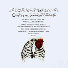 A Tremor in Their Hearts [Quran Surah Al-Anfal Islamic Qoutes, Islamic Teachings, Islamic Inspirational Quotes, Muslim Quotes, Religious Quotes, Arabic Quotes, Quran Surah, Islam Quran, Islam Muslim