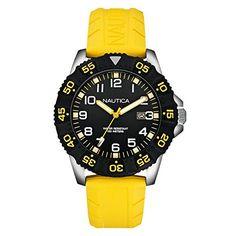 Nautica Herren Nautica Herren NSR 103 Gelb Uhren Quarzuhr Uhren Quarzuhr - http://uhr.haus/nautica/nautica-herren-nautica-herren-nsr-103-gelb-uhren