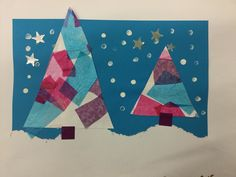 Winter scene, kindergarten P3