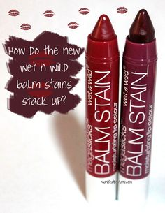 New Wet n Wild Megalast Balm Stains in Red-Dy or Not and Lady and the Vamp