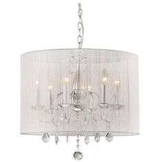 I have this exact chandelier in my bedroom and I LOVE it!