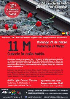 11 M Cuando la calle habló - Domingo 23 de Marzo Milk Lgbt Center Verona