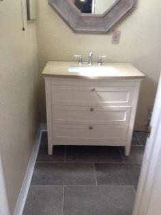 Sq Ft TrafficMASTER Ceramica In X In Coastal Grey - 30 sq ft bathroom