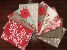 Winters Lane Fat Quarter Bundle of 9 by Kate by SistersandQuilters, $24.75