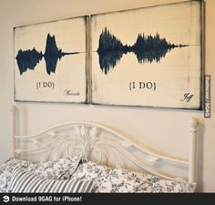 The soundwaves of saying ''I do''.