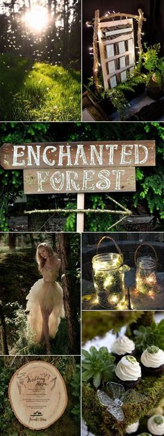 New garden wedding ceremony ideas romantic Ideas Enchanted Forest Prom, Enchanted Forest Decorations, Enchanted Garden Wedding, Enchanted Wedding Themes, Enchanted Forest Bedroom, Forest Wedding Decorations, Enchanted Fairies, Magical Forest, Decor Wedding