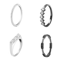 #MelissaKayeJewelry Libby, Margo, Chloe, Isabella #ring in #18k #gold with #diamonds #jewelry #finejewelry #blackgold #whitegold #stackingrings #fashion #style #MKJHoliday