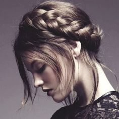Vogue Australia bohemian braid hair..  Would love to do a segment of the photoshoot with a very bohemian braided style...semi-up...a bit messy, but still look lovely...