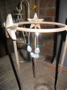 Turquoise AB Crystal Earrings by cthorses66 on Etsy, $10.00
