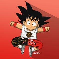nxtgfx:   Goku x Bape   Art by nxtgfx - A Blog About.....Nothin'