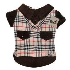 Camisa em Veludo Cotele Marrom Dudog Vest - MeuAmigoPet.com.br #petshop #cachorro #cão #meuamigopet