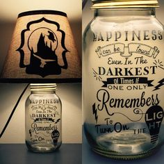 Harry Potter inspiré Mason Jar lampe