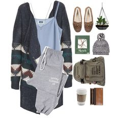 Created in the Polyvore iPhone app. http://www.polyvore.com/iOS #indie #Winter2014 #Winter #fall2014 #Fall #cozy #sweaterweather #joggers