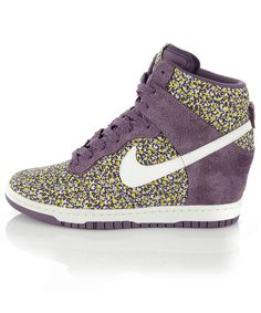 Dunk Sky High Liberty Print Trainers, Nike. Liberty London.   @Melanie Becker I think these need to happen.