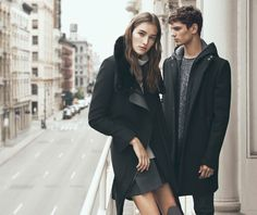 Josephine Le Tutour Poses in NYC for VINCE Fall '15 Ads