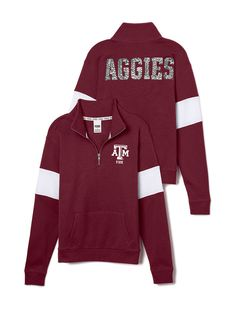 Texas A&M University Bling Half-Zip Pullover - PINK - Victoria's Secret
