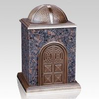 The Bronze & Granite Brown Cremation Urn is made of natural quarried carnelian granite etched to perfection. Bronze and marble are one of the most elegant design variations in today's modern world available. This urn symbolizes pure and honest peace.