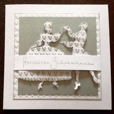 Die schlichte Karte: Hochzeit II
