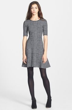 Theory Nikay Houndstooth Cotton Blend Dress