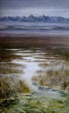 The Dead Marshes ...an ancient battlefield where many were laid to rest... (with imagery most likely drawn from Tolkien's experience as a soldier during WWI), illustration by Alan Lee
