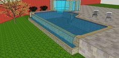 Fotografia de 3d piscina com borda infinita por Dpm Arquitetura E Design #521543.