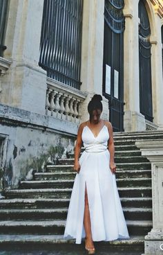 Long Dresses - Greek goddess luxurious long dress with gold details - Women Clothing - DR Collection