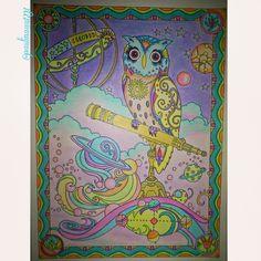 #owl #owlart #owllove #owls #coloringbook #colortherapy #art #arttherapy #colors #crayola #coloredpencils #color #creativehaven #marjoriesarnat