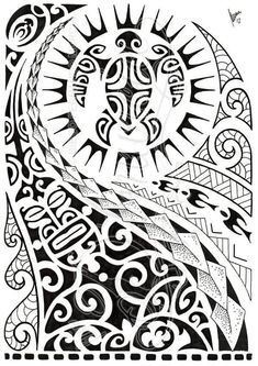 Latest Black Polynesian Half Sleeve Tattoo Design #polynesiantattoosdesigns