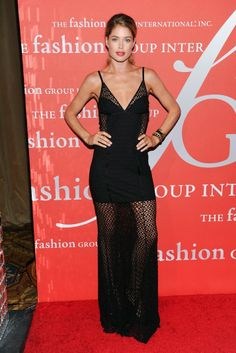 Doutzen Kroes in a crochet knit Missoni dress at the 30th Annual Fashion Group International Night of Stars