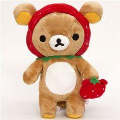 rilakkuma dress up as strewberry plush toy from modes4u.com    #modes4u #rilakkuma