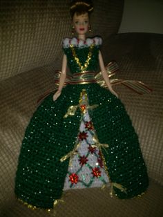 Green Christmas Barbie
