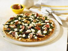 Spinach, fig & goat cheese thin crust pizza. Yes.