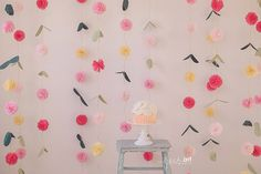 Pom Pom Vines by PaperwhiteDesigns on Etsy. This, against a white backdrop..?