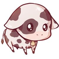 Kawaii cow by Dessineka{so cute i wanna throw up}