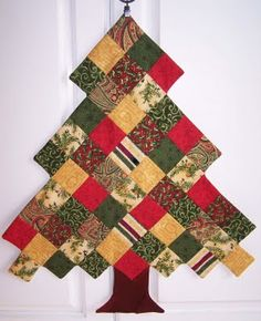 Piecing - I think I see possibilities here for a pretty lap quilt - snowy white background? Presents under the tree?