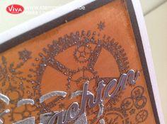 DIY Karte im #Metallic und #Beton Look