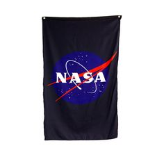 Officially Licensed NASA Approved Merchandise Woven Polyester, High Resolution Printed Design Aluminum Grommets For Quick And Simple Hanging Comes In Official NASA High Quality Packaging Transform Your Room Into NASA Headquarters! Meatball, Nasa, Print Design, Banner, Reusable Tote Bags, Packaging, Printed, Logos, Simple