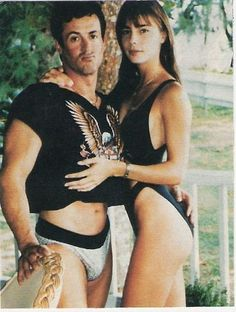 Sylvester Stallone  & Jennifer Flavin  - met in 1988 when she was 19, together 1990 - 1993 before he sent her a 'Dear Jane' letter.