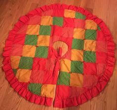 Vintage Patchwork Tree Skirt by lishyloo on Etsy