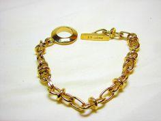 St. John Bracelet Charm Gold Tone Chain #StJohn #Chain