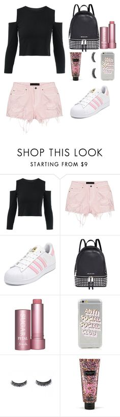 """""""Untitled #533"""" by vaniadenisse16 ❤ liked on Polyvore featuring Alexander Wang, adidas, Michael Kors and Victoria's Secret"""