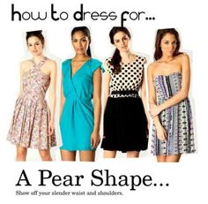 How to dress a pear shape body type Styles that flatter the pear shaped body type. Pear Shaped Dresses, Pear Shaped Outfits, Nicole Richie, Rihanna, Beyonce, Christina Aguilera, Pear Shape Fashion, Dress For You, Dress Up