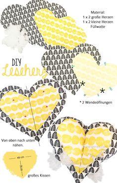 DIY Leseherz Kissen | Leseherzkissen | #Leseherz | Herzkissen |Nähanleitung | Schnittmuster | September 2015 © waseigenes.com Blog