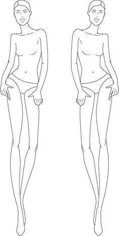 full figure croquis | Illustration Fashion Figures