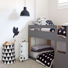 Zwart-wit kinderkamer // Black and white kids room (Canary Home)