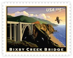 Bixby Creek Bridge • as part of the USPS collection • by Dan Cosgrove • February 3, 2010