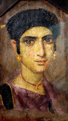 Portrait of a Girl. mid 4th c. CE. Fayium Oasis | Flickr - Photo Sharing!